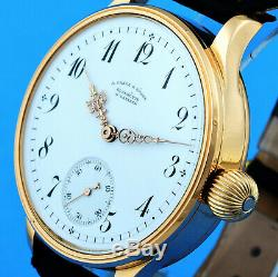A. Lange & Sohne 18k /750 Gold Chronometer Museum Certificate Limited Edition