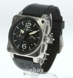 BellRoss Heritage BR03-94 Chronograph black Dial Automatic Men's Watch 604505