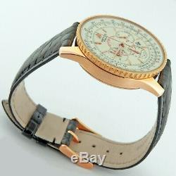 Breitling Navitimer Montbrilant 18K Rose Gold Automatic Chronograph R41370 38mm