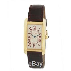 CARTIER 18K Yellow Gold Limited Tank American Americaine Automatic Warranty Box