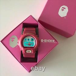 CASIO G-SHOCK A BATHING APE 1000 Limited model DW6900 Pink Very Rare USED