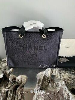 CHANEL Black Deauville Tote Gold 2020 GST Grand Shopping Bag 20A NEW NWT Rare