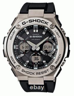 Casio Men's Watch G-Shock Analog-Digital Dial Dive Black Strap GSTS110-1A