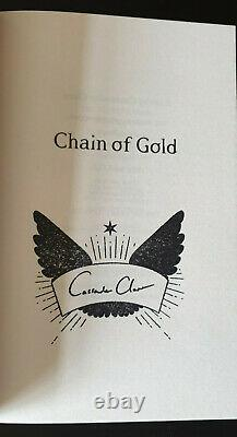 Cassandra Clare Chain of Gold SIGNED/Stamped Clothbound Foil edition w. Extras