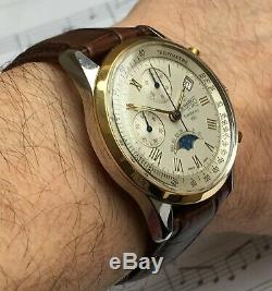 Eberhard & Co. Limited Edition Steel/Gold Chronograph with Moonphase Manual Wind