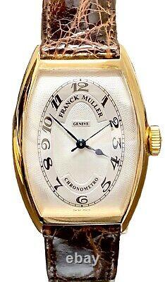 Franck Muller Chronometro Curvex 5850 18K Yellow Gold Automatic 32X45mm Watch