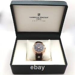 Frederique Constant Healey Chronograph Automatic Wrist Watch Rose Gold Chocolate