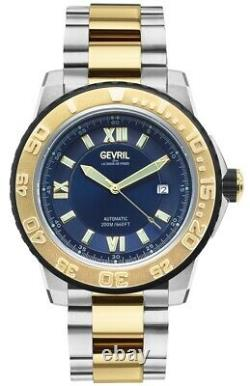 Gevril 3125B Men's Seacloud Swiss Automatic Diver Limited Edition Two Tone Watch
