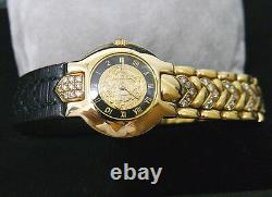 Gianni Versace 18K Solid Gold And Diamond Beautiful LIMITED EDITION 076 Watch