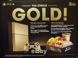 Gold Sony PS4 Bundle Taco Bell Limited Edition Console