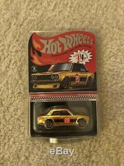 Hot Wheels 2020 RLC Red Line Club Exclusive Gold 71 Datsun 510 IN HAND