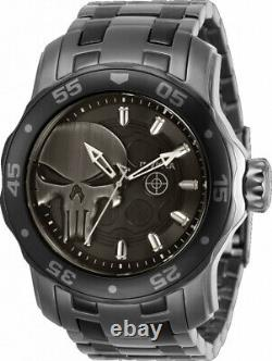 Invicta 48mm Marvel Scuba Pro Diver PUNISHER Limited Edition GunMetal SS Watch