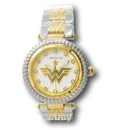 Invicta DC Comicss Wonder Woman Ladies 40mm Limited Edition Two-Tone Watch 33172