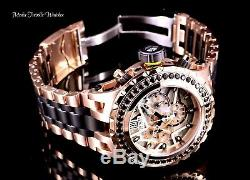 Invicta JT 52MM Reserve 5.06ctw Black SPINEL Subaqua Specialty Rose Gold Watch