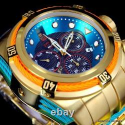 Invicta JT Reserve Bolt Zeus Hall of Fame Swiss Movt Gold Plated 52mm Watch New