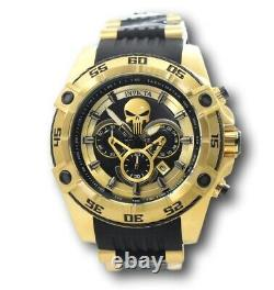 Invicta Marvel Punisher Men's 52mm Gold Limited Edition Chronograph Watch 26860