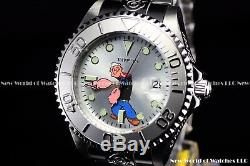 Invicta Men's 47mm Limited Edition Grand Diver POPEYE Automatic Silver SS Watch