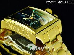 Invicta Mens 45mm RUSSIAN DIVER Swiss Chronograph Gold Tone Black MOP Dial Watch