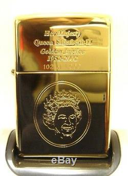 Limited Edition Golden Jubilee Zippo Lighter 2002 BRAND NEW & BOXED