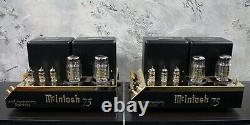 McIntosh MC75 Power Amps 60th Anniversary Gold Limited Edition MATCHED PAIR