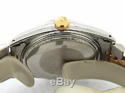 Mens Rolex 2Tone 14K Gold/Stainless Steel Datejust withJubilee Band & Black Dial