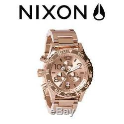 NIXON 51-30, 42-20 Chrono Rose Gold. His and Hers Combo Set A083-897 a083897