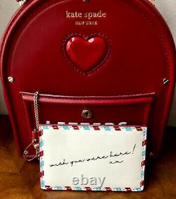 NWT Kate Spade 2021 Red Leather YOURS TRULY 3D MAILBOX Top Handle Crossbody Bag