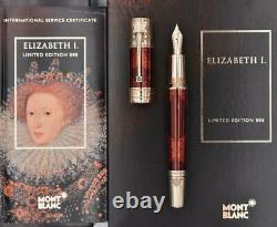 New Sealed Montblanc Patrons Elizabeth I 888 Limited Edition Fountain Pen 18k