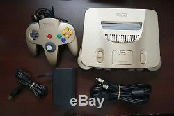 Nintendo 64 Console Gold Limited Edition Japan N64 system US seller please read