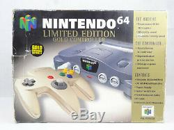 Nintendo N64 Console Boxed PAL Gold Controller Limited Edition