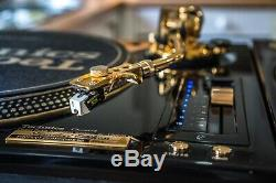Pair Of Technics 1200 24k Gold Limited Edition Turntables