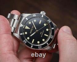 RARE Invicta Men 40mm Pro Diver 1953s Homage Automatic NH35 Black Dial SS Watch