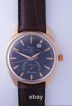 Rare 18k Rose Gold Ball Trainmaster Kelvin Limited Edition Thermometer Watch