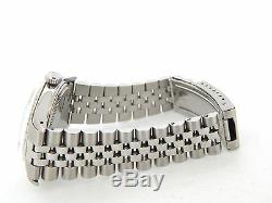 Rolex Datejust Mens Stainless Steel Watch 18K White Gold Bezel Silver Dial 1601