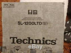 Technics SL 1200 LTD Limited Edition New & Boxed 24k Gold Plated Turntable