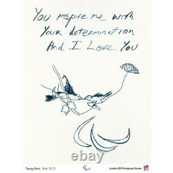 Tracey Emin London 2012 Olympic Games, Gold Limited Edition Poster Print. New