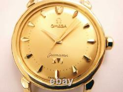 Vintage Omega Sea-Master OLYMPIC 1956 18KY Solid Gold Automatic Men's Watch