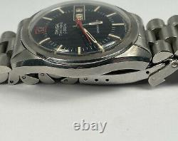 Vintage Omega Seamaster Chronometer Electronic F300Hz Blue Dial Watch Day/Date