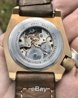 Vintage VDB Handmade Compressor SE Bronze Angelus 8 Day Swiss Movement 1 Of 1